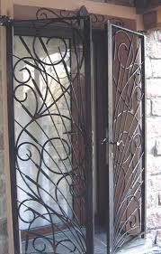 deco fer forge ferronnerie grille de porte de sécurité en fer forgé décor jonc la ferode