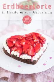 erdbeer herz torte backen macht glücklich