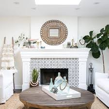 best 25 mosaic tile fireplace ideas on place