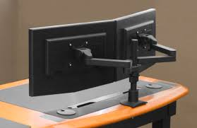 Dual Monitor Arms Desk Mount by 17 Dual Monitor Arm Desk Mount Quad Monitor Stand 4 Monitor