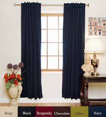 Blackout Curtain Liner Amazon by Amazon Com Navy Rod Pocket Energy Saving Thermal Insulated