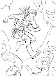 Star Wars Master Yoda And Luke Skywalker Coloring Page To Print