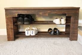 Diy Pallet Shoe Storage Bench Design Ideas Photo Beautiful Rack For Your House