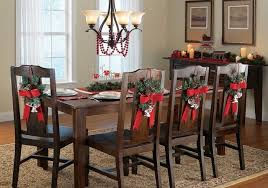 Attractive Christmas Home Decoratives On Dining Room Chair Covers