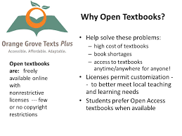 Open Access Textbooks The Brave New World At UF Why