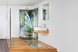 foto glaswand im badezimmer badezimmer waschbecken
