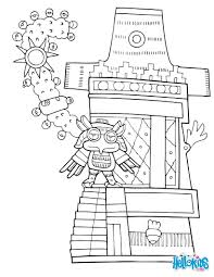 Tepetzintla Pyramid Of The Owl Coloring Page