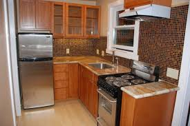 kitchen remodels small remodeled kitchens brown rectangle modern