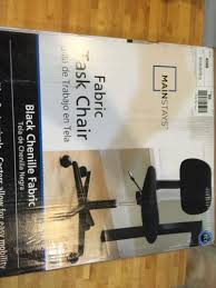 Mainstays Desk Chair Black by Mainstays Fabric Task Swivel Chair For Office Desk Armless