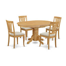 100 Oak Pedestal Table And Chairs Amazoncom East West Furniture AVON5OAKC 5Piece Dining Set