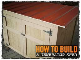 diy generator shed diy do it your self