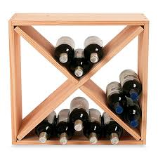 Wine Enthusiast 24 Bottle Wooden Wine Rack Cube Bed Bath & Beyond