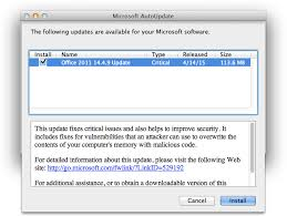 Microsoft Releases fice 2011 14 4 9 Update Patches Critical