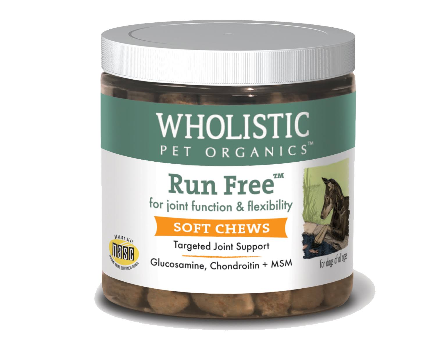 Wholistic Pet Run Free Joint Support - 4g, 60 Soft Chews