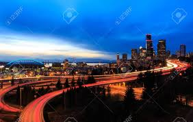 100 Beautiful Seattle Pictures At Dusk From The Dr Jose Rizal Bridge Stock
