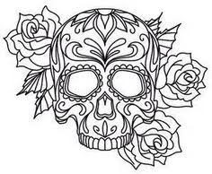 Luxury Design Skull Coloring Pages For Adults Day Of The Dead