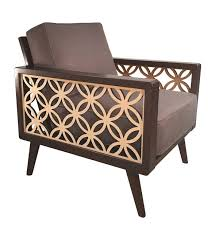100 Modern Style Lounge Chair Interlaced Circles Mid Century Twist