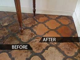 Saltillo Tile Cleaning Los Angeles by Stone Tile Cleaning