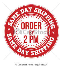 Same Day Shipping Label Stamp Vector