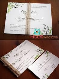 Rustic Green Botanical Invitation Leaf Wedding Garden