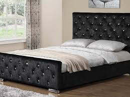 White Velvet King Headboard by Bed Frame Bedroom Stunning Furniture For Bedroom Decoration