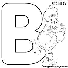 B Big Bird Alphabet Letters To Print