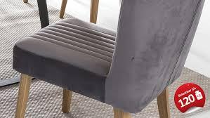 stuhl jan polsterstuhl in stoff grau und eiche natur