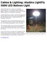Cables & Lighting Aleddra LightFly 5000 LED Balloon Light