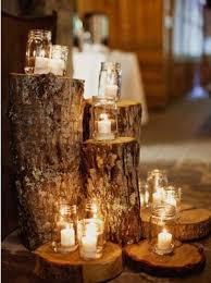 Rustic Mason Jar Tree Stump Wedding Decor Himisspuff