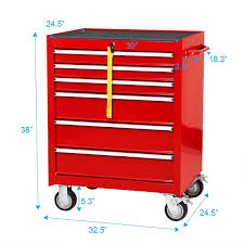 100 Service Truck Tool Drawers Goplus 30 X 245 Box Cart Portable 6Drawer Rolling Storage