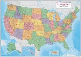 Quick View USA Political Wall Map