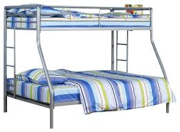 zilda bunk bed silver twin over full contemporary bunk beds
