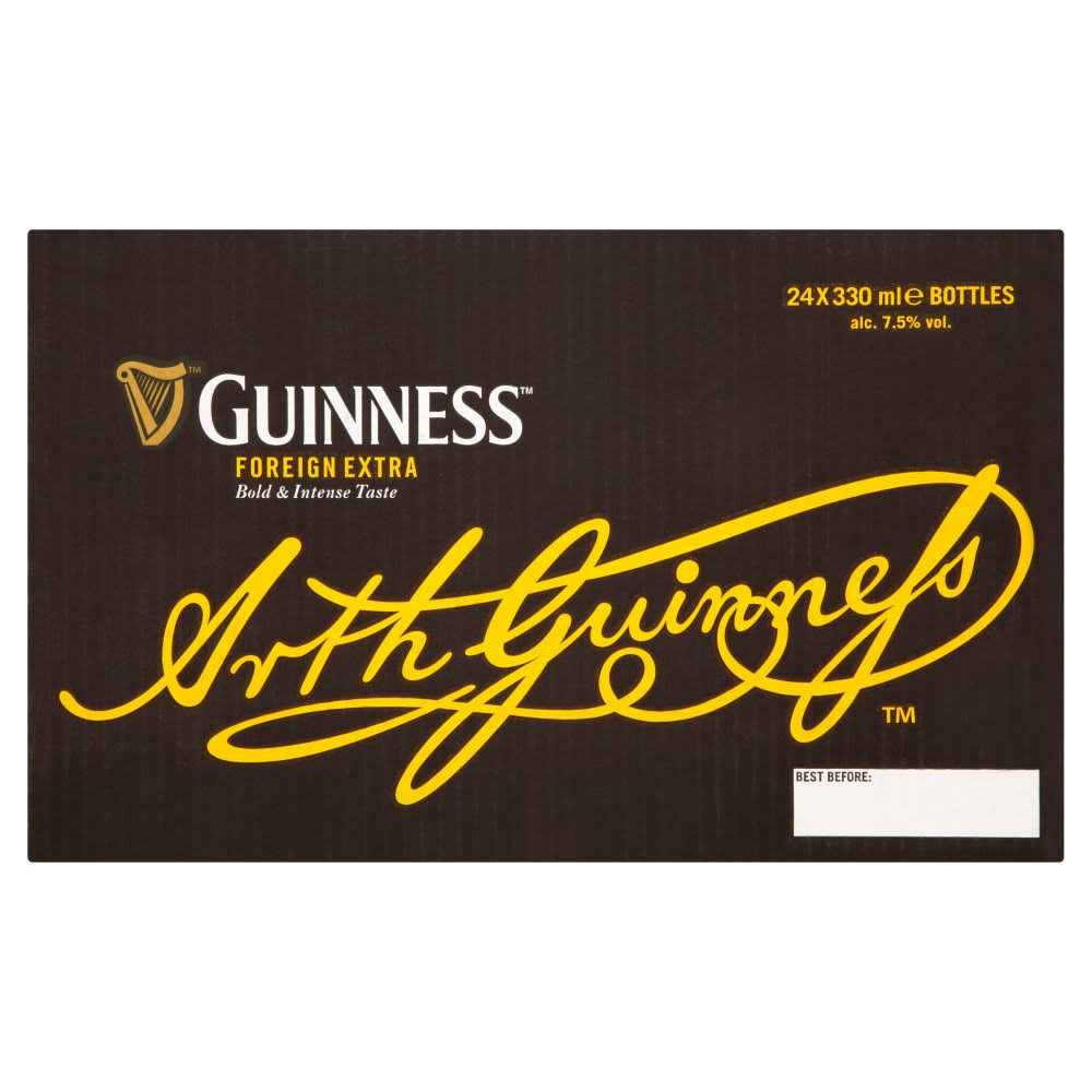 Guinness Foreign Extra Stout Beer - 330ml, 24ct