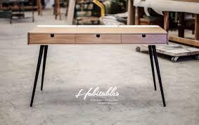 bureau en acier bureau en bois avec pieds acier