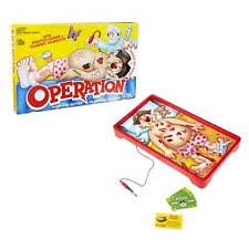 Operation Classic Childrens Board Game By Hasbro
