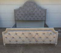 Black Leather Headboard With Crystals by Tufted Headboard With Crystal Buttons Swarovski Bedroom Set Beds