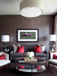 Red Black And Brown Living Room Ideas by High End Bachelor Pad Decorating On A Budget Hgtv
