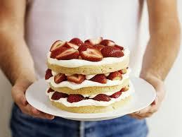 kleine erdbeer sahne torte