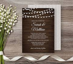 Rustic Wedding Invitation Template DIY Printable Invite Instant Download Wood String Lights