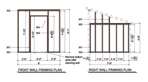 8 8 lean to shed plans blueprints for garden shed