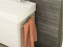 aqua bagno design bad handtuchhalter kurz zur korpusmontage aluminium oberfläche chrom 32cm tief