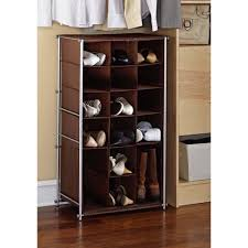 Boot Cabinet by Mainstays Shoe And Boot Rack Silver Brown Walmart Com