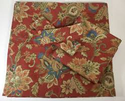 Jacobean Style Floral Curtains by Chaps Annabelle Window Panel Valance Tie Back Set Pair Jacobean