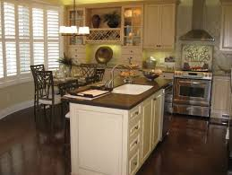Off White Kitchen Dark Floors Cabinets Home Design Ideas