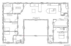 plan de maison en u pour famille avec enfants 3 chambres