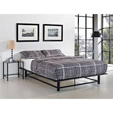 parsons queen metal ledge platform bed black walmart com