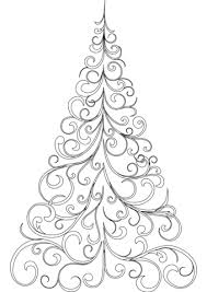 Click To See Printable Version Of Swirly Christmas Tree Coloring Page