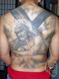 Thailand1s Tattoo 26 Jesus Carry Cross