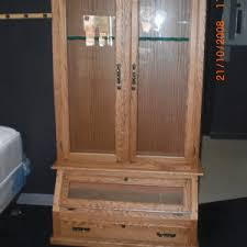 Wooden Gun Cabinet With Etched Glass by Furniture Very Spectacular Storage Gun Cabinets Ideas In Your