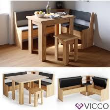 vicco eckbankgruppe eiche esszimmergruppe sitzgruppe küchensitzgruppe